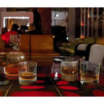 12 Gläser für Wasser oder Whisky Vintage Design in dekoriertem Kristall - taktil