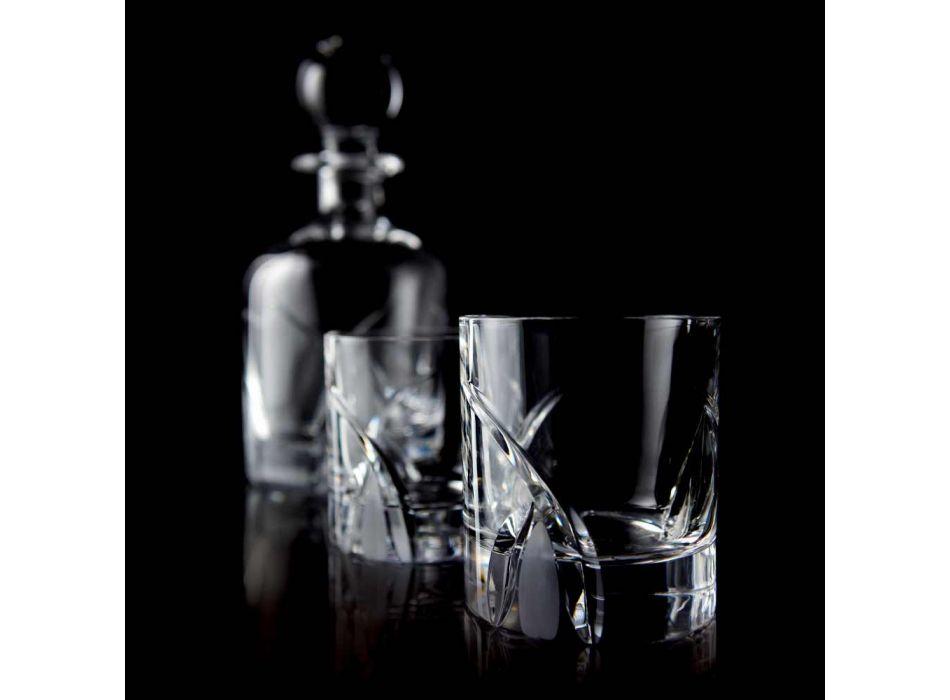 12 niedrige Bechergläser im Öko-Kristall-Luxus-Design - Montecristo