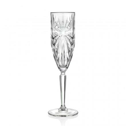 12 Flötengläser Glas für Champagner oder Prosecco in Öko-Kristall - Daniele