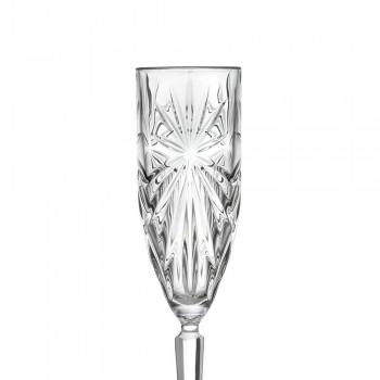 12 Flötengläser Glas für Champagner oder Prosecco in Eco - Daniele Crystal
