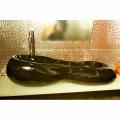 Aufsatzwaschbecken in modernem Design schwarz oder pink Goldline