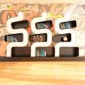 Bücherregal in modernem Design aus Solid Surface® Ser P Made in Italy