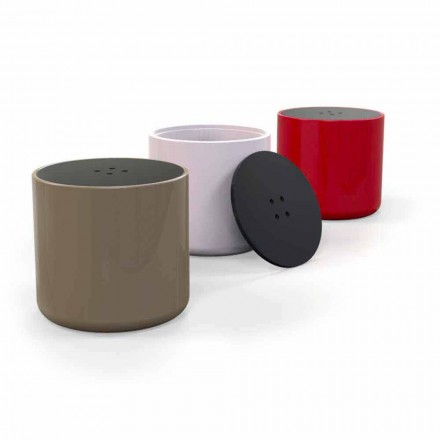 Pouf / Beistelltisch in modernem Design Button Made in Italy
