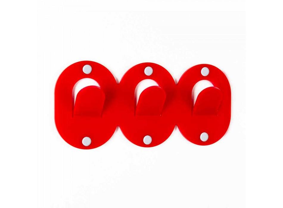 2 dreifacher Wandhalter im farbigen Plexiglas-Clip-Design - Freddie