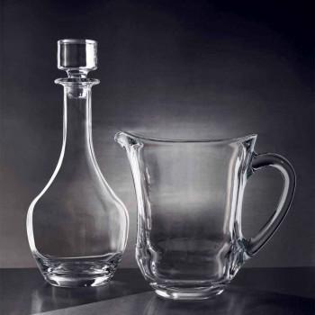 2 Flaschen für Weine in ökologischem Kristall Italienisches Minimal Design - glatt