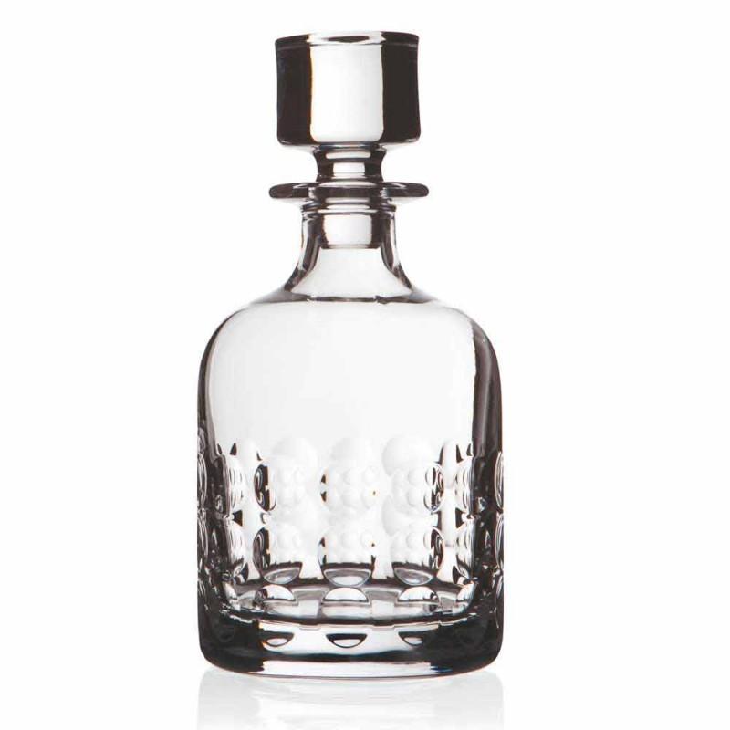 2 Flaschen Whisky aus ökologischem Kristall mit Kappe - Titanioball