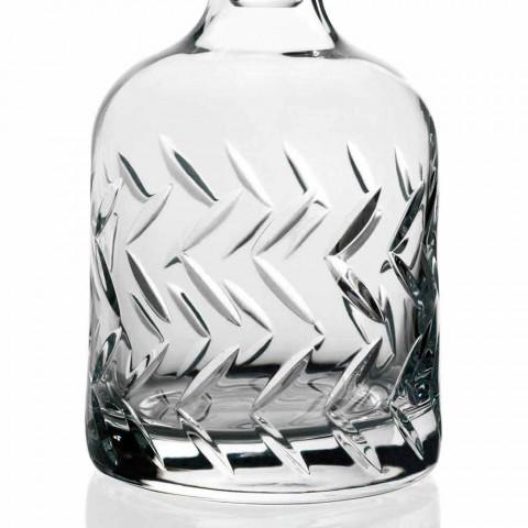 2 umweltfreundliche Kristall-Whiskyflaschen mit Vintage-Dekorationsverschluss - Arrhythmie
