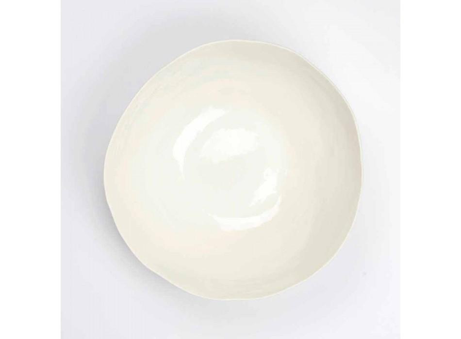 2 Salatschüsseln aus weißem Porzellan Einzigartige Stücke italienischen Designs - Arciconcreto