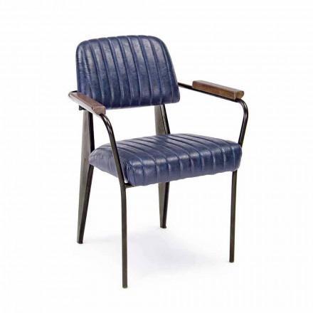2 Vintage Effekt Kunstleder Homemotion Stühle mit Armlehnen - Clare