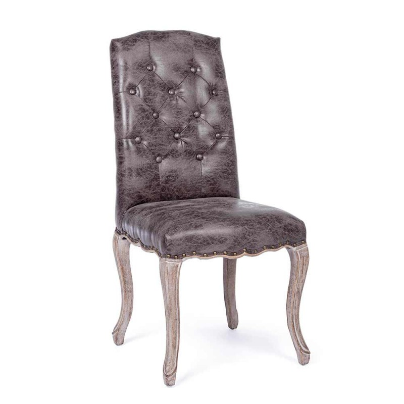 2 Esszimmerstühle mit gepolstertem und gepolstertem Sitz Homemotion - Mania