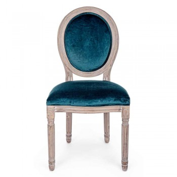 2 Esszimmerstühle im klassischen Design aus Polyester Homemotion - Dalida