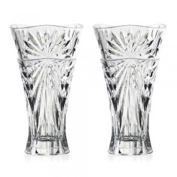 2 Tischdekorationsvasen in einzigartigem Design Ökologischer Kristall - Daniele