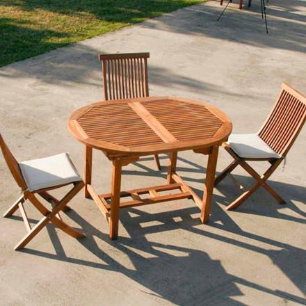 Verlängerbarer Gartentisch in Teak Lipari