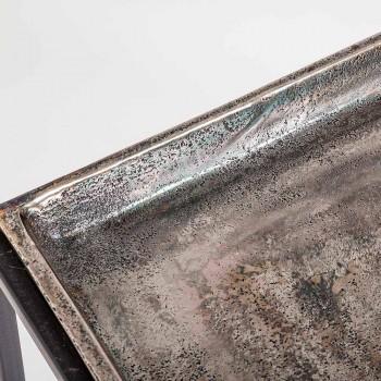 3 quadratische Couchtische aus Aluminium und Stahl Homemotion - Quinzio