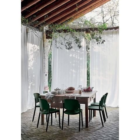 4 moderne stapelbare Gartenstühle aus Polypropylen Made in Italy - Bernetta