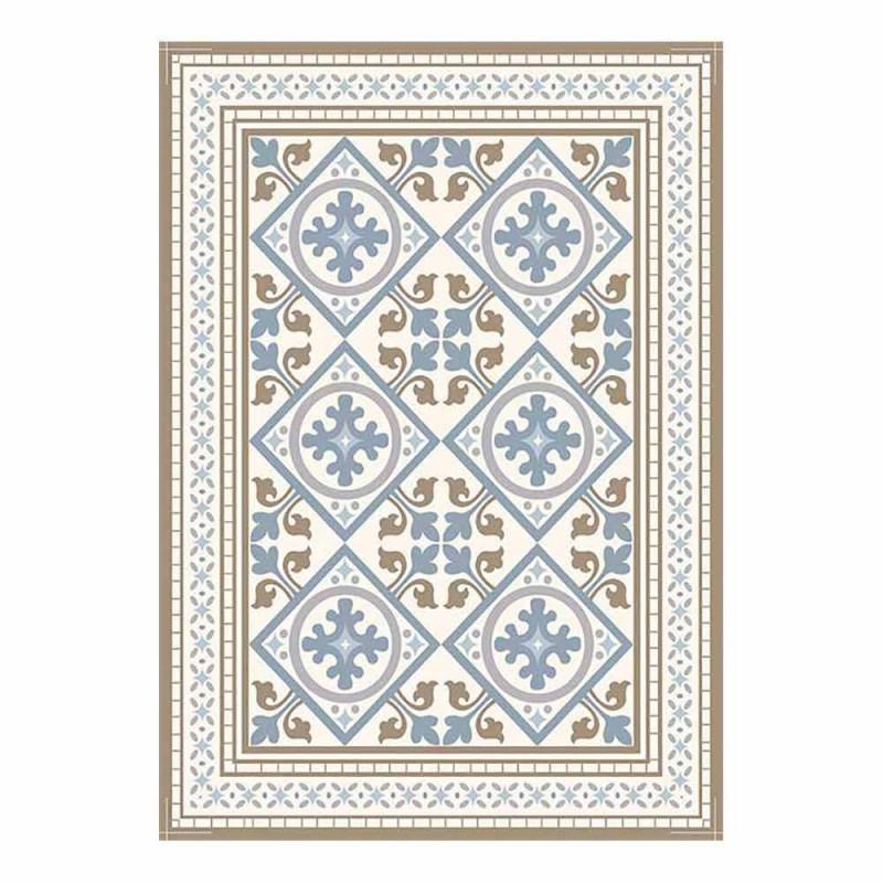 6 Elegante amerikanische Tischsets aus PVC und Polyester - Leno