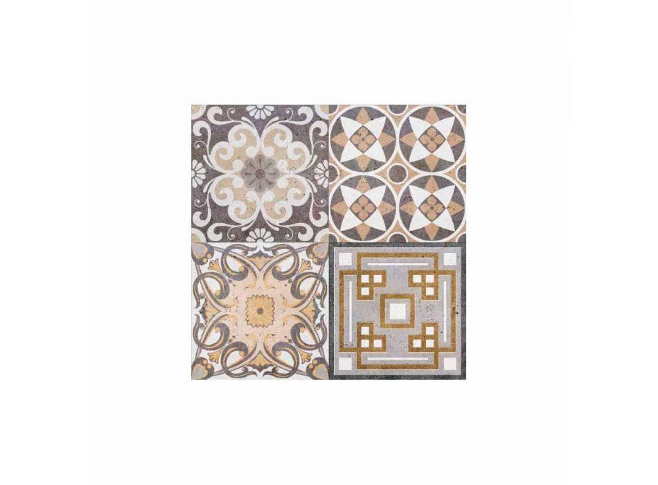 6 rechteckige Tischsets im amerikanischen Design aus PVC und Polyester - Dimetra