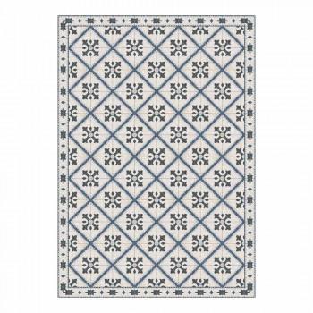 6 rechteckige Tischsets aus PVC und Polyester mit gemustertem Design - Berimo