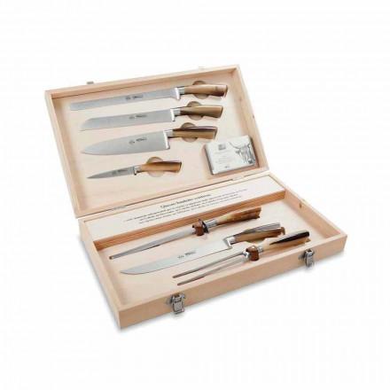 7 Tischmesser aus Edelstahl, Berti exklusiv für Viadurini - Sanzio