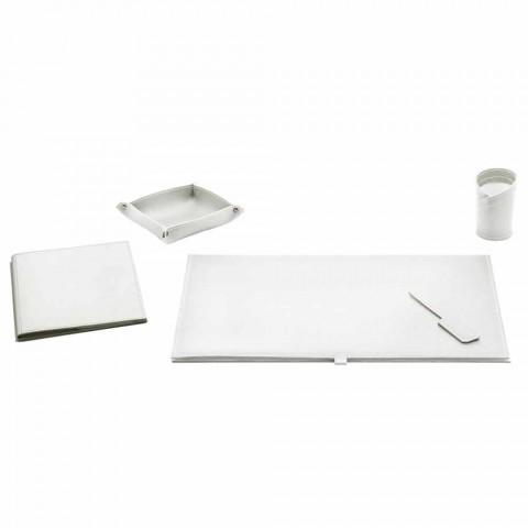 Schreibtischzubehör aus regeneriertem Leder 5 Stück Made in Italy - Aristoteles