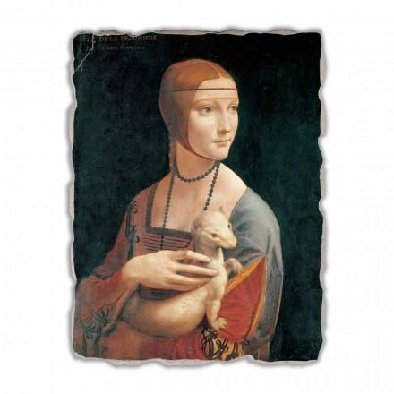 Fresko Leonardo da Vinci Dame mit dem Hermellin