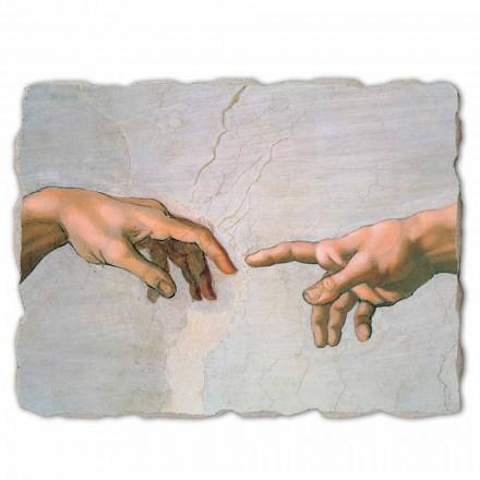 Großes Fresko Michelangelo die Erschaffung Adams  ein Teil
