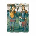 Perugino Fresko Fortitudo und Temperantia mit antiken Helden