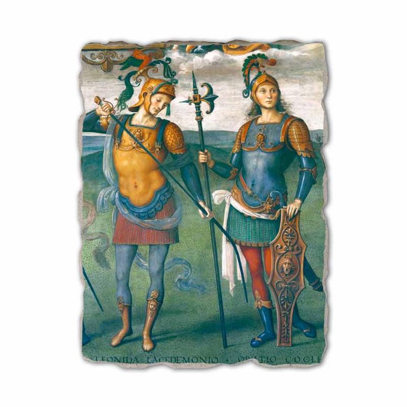 """Perugino Fresko """"Die Festung, Mäßigkeit und sechs Helden der Antike"""""""