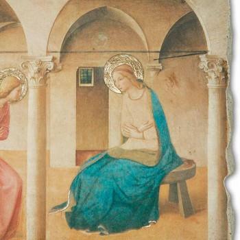 """Beato Angelico Fresko Reproduktion """"Verkündigung"""" handgefertigt"""
