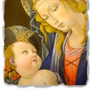 """Fresko Reproduktion Botticelli """"Madonna des Buches"""""""