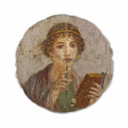 Reproduktion Fresko die Dichterin Sappho Pompeji