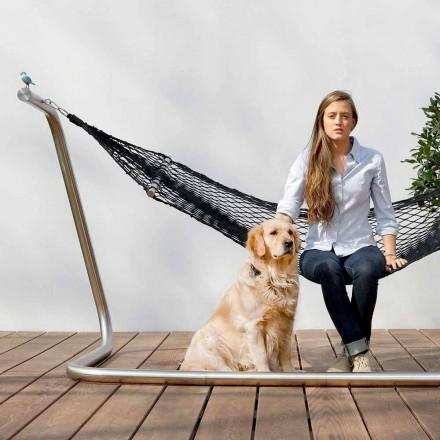 Hängematte in Stahl und Schwarz Garten Design Made in Italy - Cumberland