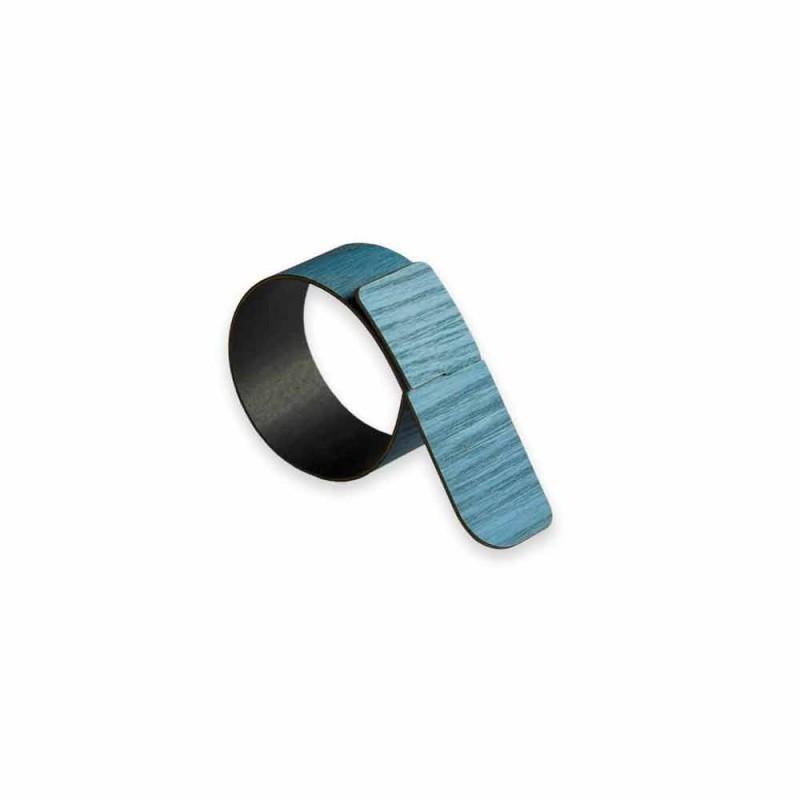 Ring Serviette Ring aus Holz und Stoff Made in Italy - Abraham