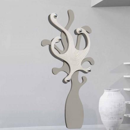 Kleiderhaken für die Wand in modernem Design Perlmutt Effekt Corey