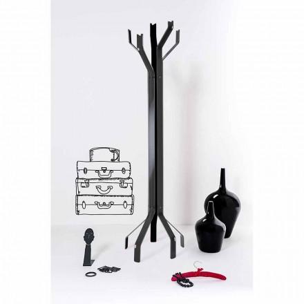 Schwarzer Kleiderhaken mit 5 Haken Andrea, modernes Design