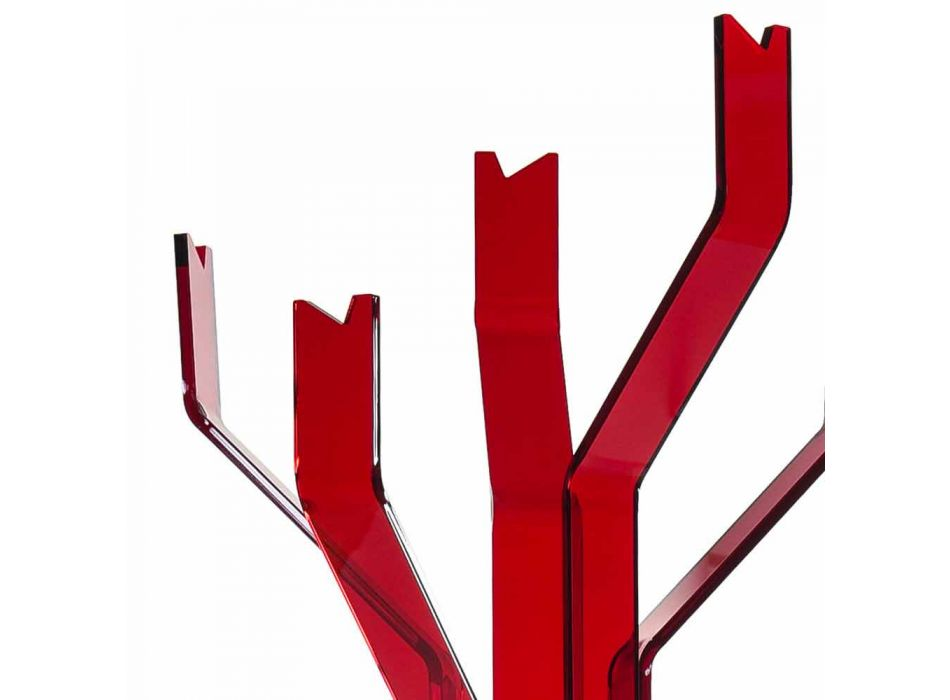 Andrea roter Kleiderbügel mit 5 Haken, modernes Design