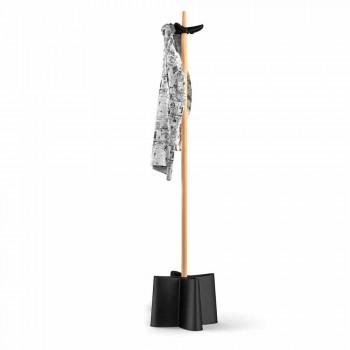 Coat Schirmständer in natürlicher Buche und Polypropylen Nurri
