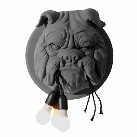 Wandleuchte mit 3 Lichtern in Grau oder Weiß Keramik Modernes Design - Dogbull