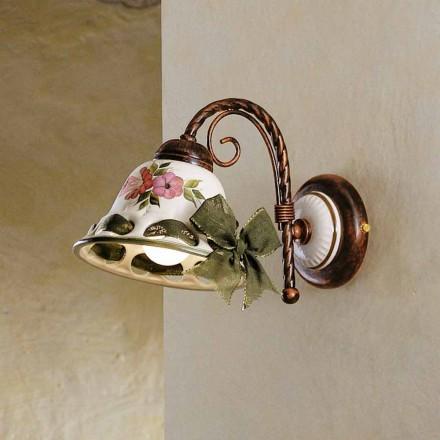 Wandlampe aus Keramik im rustikalen Stil Ferroluce Napoli