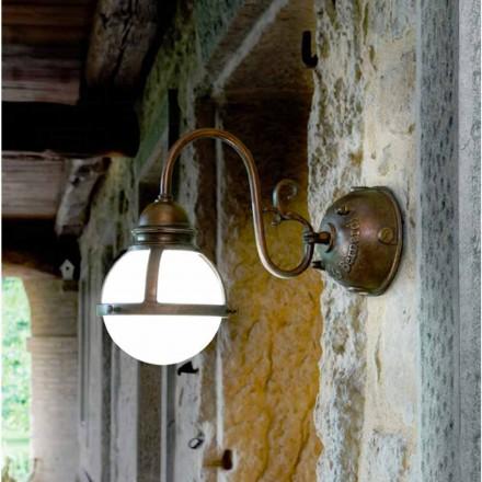 Wandlampe aus Messing und Glas Cimosa von Aldo Bernardi