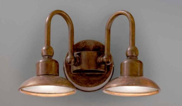 Wandlampe aus messing und kupfer bugatti von aldo bernardi