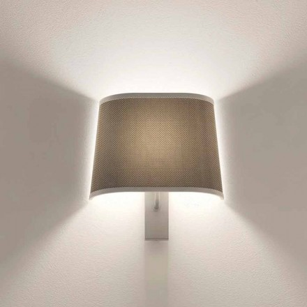 Design Wandleuchte in Metall Silber oder Weiß Finish Made in Italy - Jump
