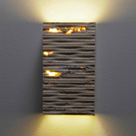 Gartenwandlampe aus Stein Serafini Marmi Pedra Out, made in Italy