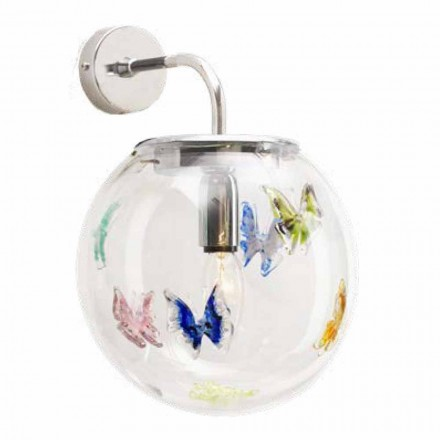 Moderne Murano Glas Wandleuchte Made in Italy - Settimina