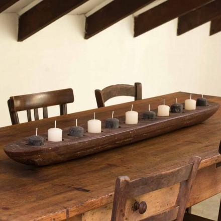 Wachsboot mit braunen oder elfenbeinfarbenen Lichtern, einschließlich Made in Italy - Ludvig