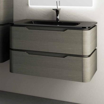 Modernes Design Hängesockel 85x55x55cm Arya lackiertes Holz