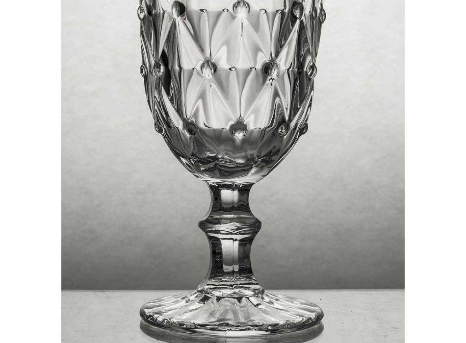 Becher aus transparentem Glas mit Reliefdekor 12 Stück - Angers