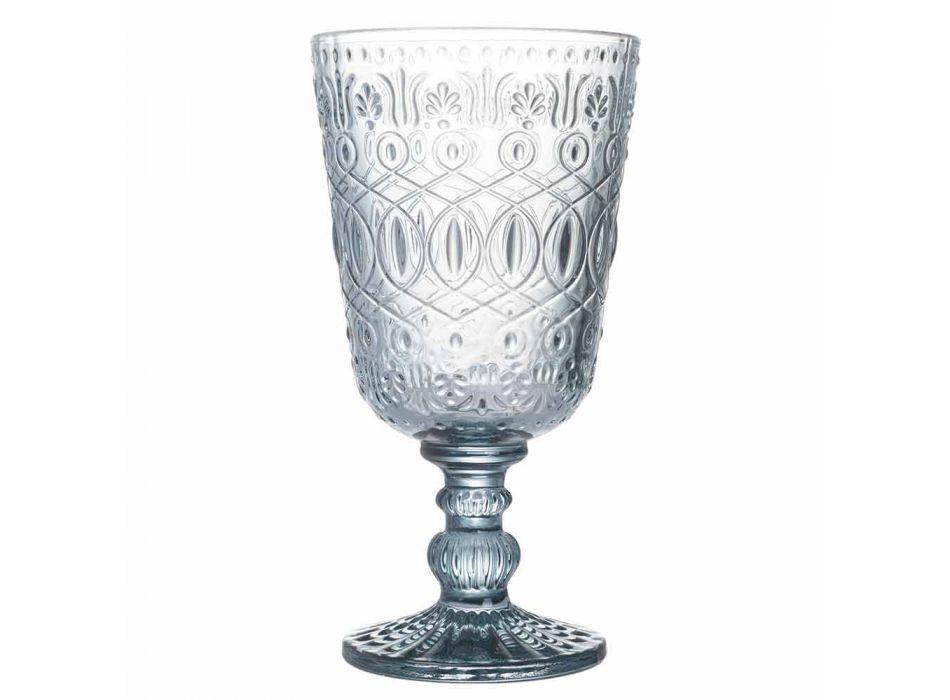 Bechergläser Wein oder Wasser in Glas mit Dekorationen, 12 Stück - Pizzotto