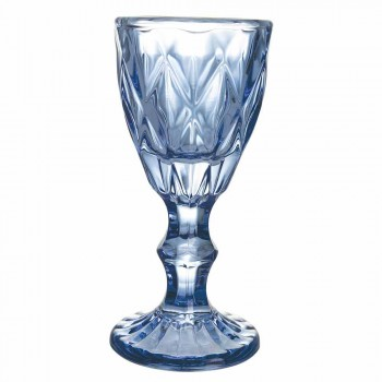 Bechergläser für Likör in Verlaufsblau oder Bernsteinglas, 12 Stück - Polyeder