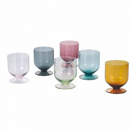 Farbige Gläser in Original Design Glas, 12 Stück Service - Batter